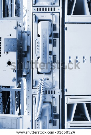 telephone on the communication and internet network server