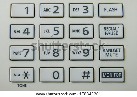 telephone pad - stock photo