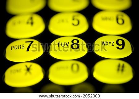 Telephone Pad - 8 - stock photo