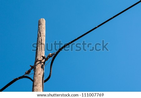 telephone pole with cable