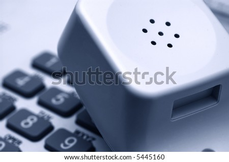 Telephone ready for dialing - stock photo