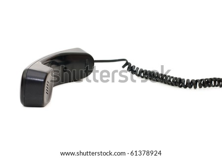 telephone receiver isolated on white background - stock photo