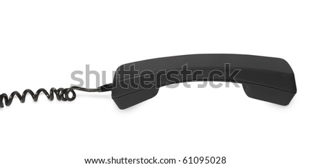 telephone receiver on white background. - stock photo