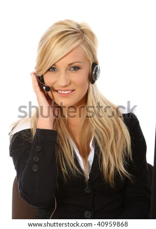 Telephone support - stock photo