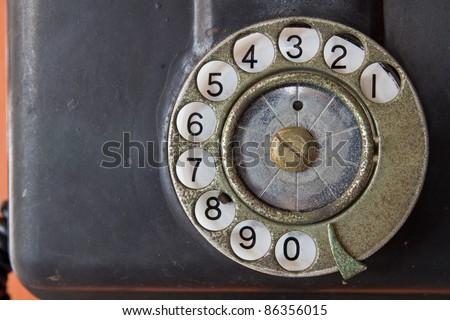 Telephone vintage. - stock photo