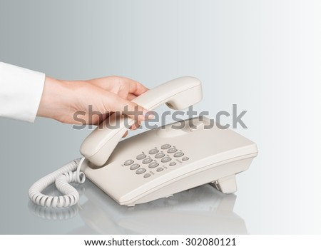 Telephone, voip, Office. - stock photo