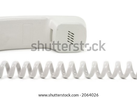 Telephone with a white background