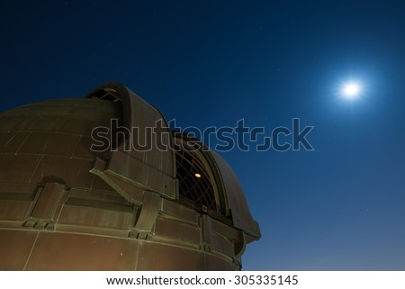 Telescope, Historic Griffith Observatory. - stock photo