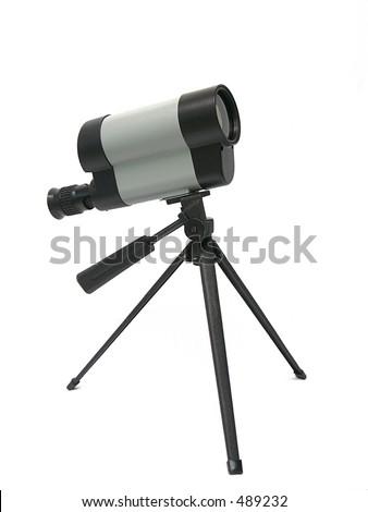 Telescope on tripod - stock photo