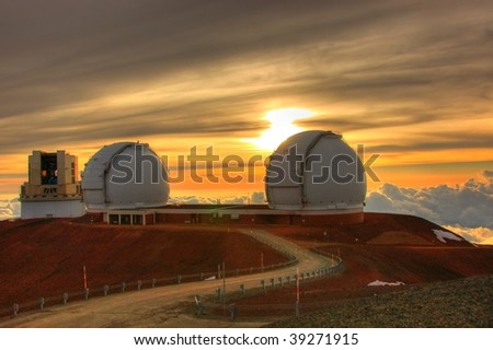 telescopes - stock photo