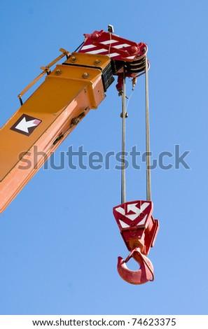 telescopic crane - stock photo