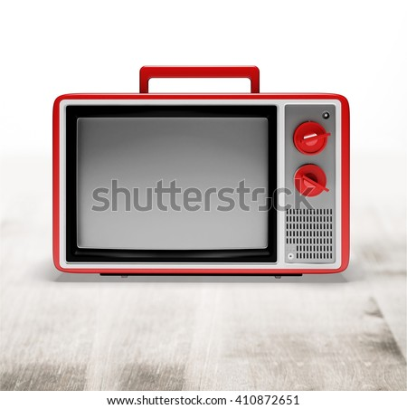 Television. - stock photo