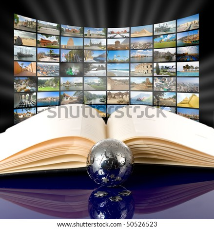 Television and internet production technology concept. All images my - stock photo