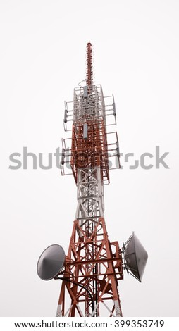 Television and radio antennas - stock photo