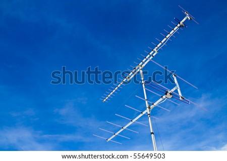 Television antenna - stock photo