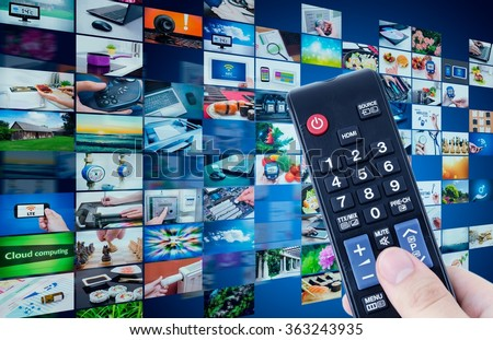 Television broadcast multimedia abstract composition with remote control
