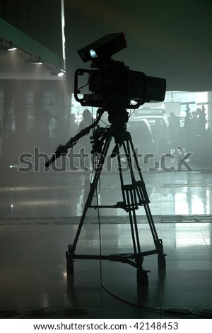 television camcorder in a studio - stock photo