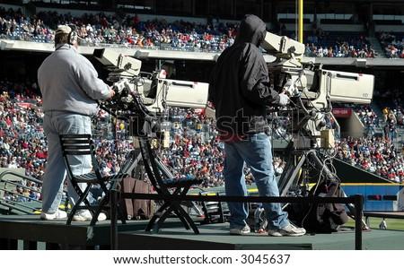 Television Cameraman - stock photo