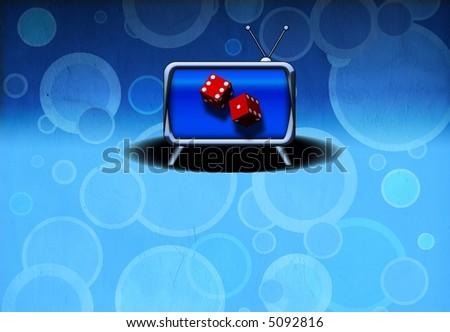 Television Gamble - Gambling Ad - Future of gambling - stock photo