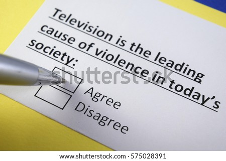 is tv the cause of violence in todays society essay Violent video games   it has also been observed that violence displayed on television such as in action movies or news has more chances of leading to violence in children that the violent games however, it is important to note that when a child plays a violent game he is likely to experience some physiological effects  have your college essay written today.