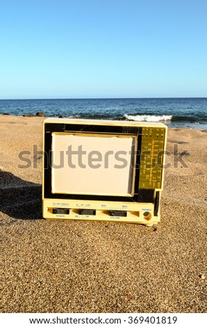 Television on the Sand Beach