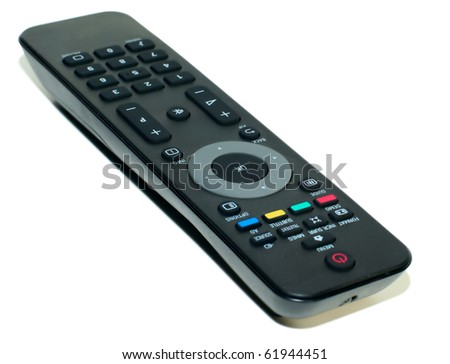 Television remote control isolated on white background - stock photo