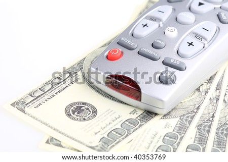 Television remote control. Paid TV. - stock photo