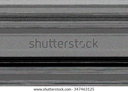 Television screen with static noise, No signal TV - stock photo