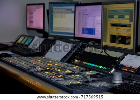 television Studio, video equipment