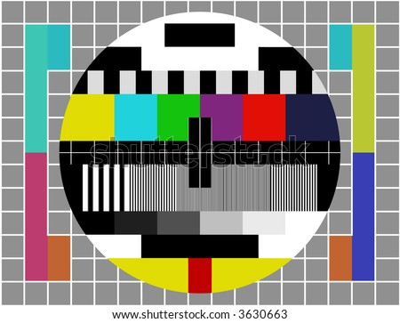 Television test screen in case of not broadcasting. - stock photo