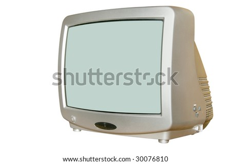 television under the white background