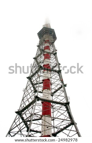 Televisione staition tower in Saint-Petersburg Russia - stock photo