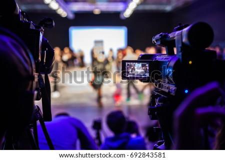 Televison Camera Broadcasting a Show