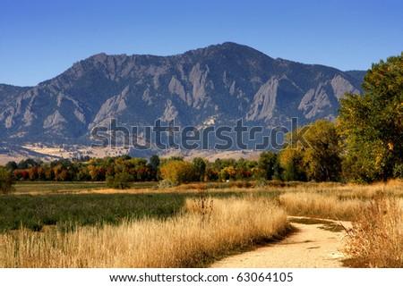 Teller Farm Trail Boulder Colorado - stock photo