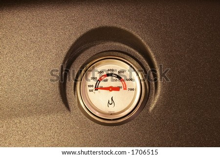temp gauge - stock photo