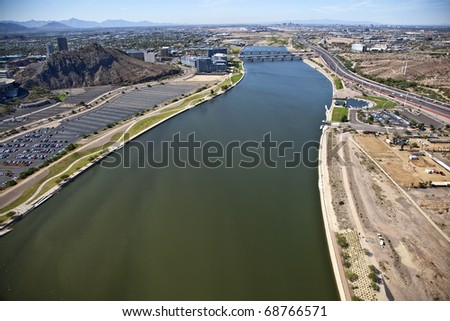 Tempe Town Lake, Arizona - stock photo