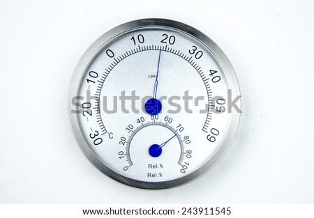 Temperature and humidity meter.