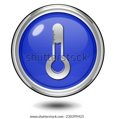 Temperature circular icon on white background