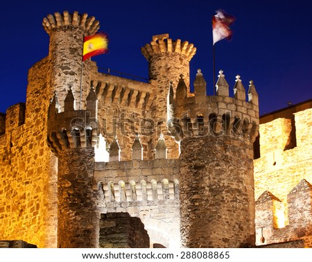 Templarium castle, Ponferrada, Santiago Road, Spain - stock photo