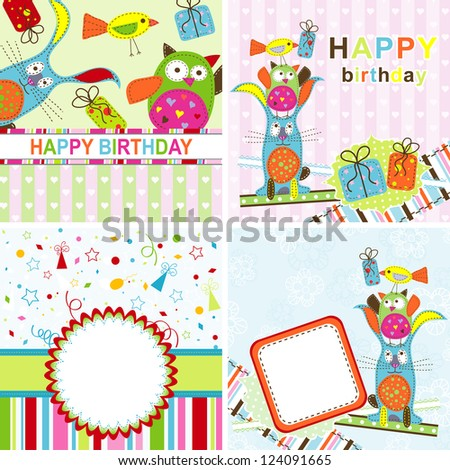 Template birthday greeting card