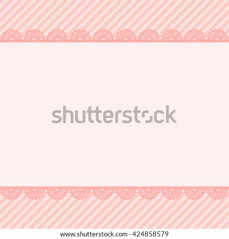 Template birthday greeting card, cute floral illustration