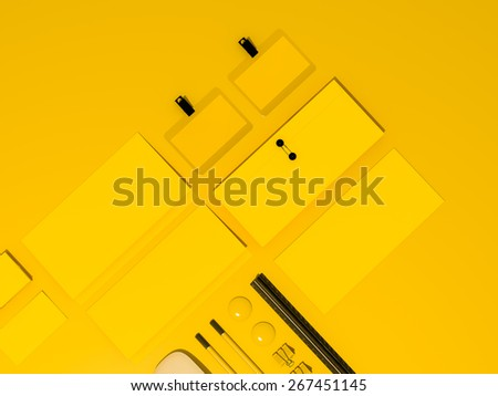Template business mock up for branding. High resolution. - stock photo