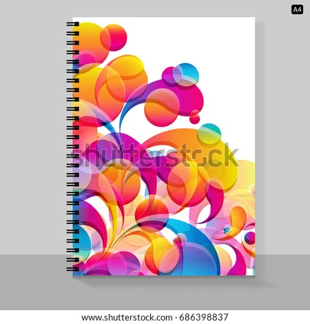 Template Cover A 4 Notebook Bright Design Stock Illustration ...