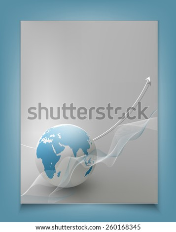 template for a business with a globe - stock photo