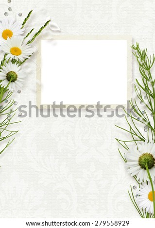 Template for calendar with frame for photo - stock photo