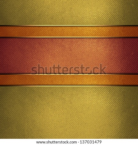 Template for design. Yellow gold background with red stripes for text. A vintage poster. Design for website