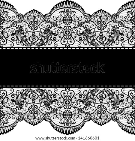 Lace border stock photos royalty free images vectors for Border lace glam