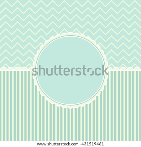 Template frame design for holiday card. - stock photo