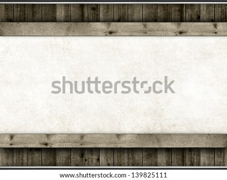 Template - handmade paper and planks