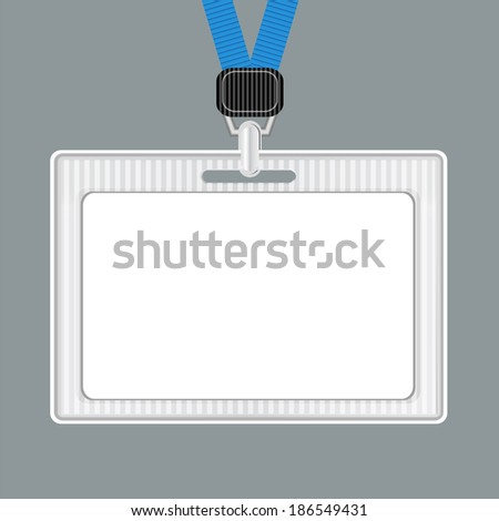 Template. Lanyard, retractor end badge. Padge templates